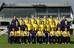 Gloucestershire CCC pose for a team picture in their NatWest T20 kit  - Mandatory by-line: Robbie Stephenson/JMP - 04/04/2016 - CRICKET - Bristol County Ground - Bristol, United Kingdom - Gloucestershire  - Gloucestershire Media Day