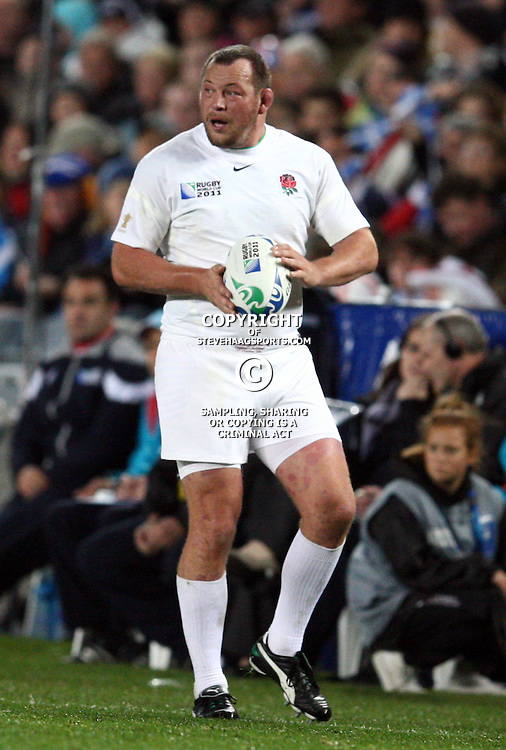 AUCKLAND, NEW ZEALAND - OCTOBER 01, Steve Thompson during the 2011 IRB Rugby World Cup match between England and Scotland at Eden Park on October 01, 2011 in Auckland, New Zealand<br /> Photo by Steve Haag / Gallo Images