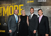 """Brendan Kelly, executive producer, writer; Tamara Chestna, executive producer;  Eric Berger, EVP, Digital Networks, Sony Pictures Television and General Manager, Crackle; and Chuck Rose, creator, writer, executive producer, left to right, attend Crackle's """"The Art of More"""" season two premiere, Tuesday, Nov. 15, 2016, at the Museum of Arts and Design in New York. Sony's streaming network, Crackle, will launch season two of its first original scripted drama, """"The Art of More,"""" on November 16th.  (Photo by Diane Bondareff/Invision for Crackle/AP Images)"""