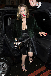 © Licensed to London News Pictures. 17/02/2016. KATHERINE RYAN arrives at the NME Awards 2016 with Austin, Texas.  Previous winners of NME's Godlike Genius Award include Suede, Blondie, The Clash, Paul Weller, The Cure, Manic Street Preachers, New Order & Joy Division, Dave Grohl, Noel Gallagher and Johnny Marr.  London, UK. Photo credit: Ray Tang/LNP