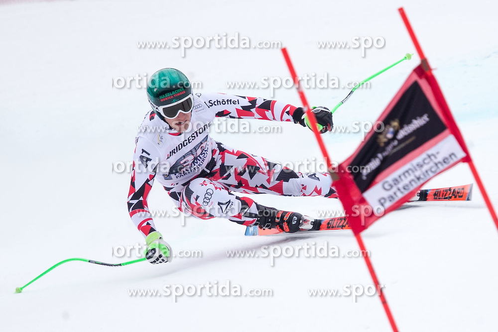 27.02.2015, Kandahar, Garmisch Partenkirchen, GER, FIS Weltcup Ski Alpin, Abfahrt, Herren, 2. Training, im Bild Otmar Striedinger (AUT) // Otmar Striedinger of Austria in action during the 2nd trainings run for the men's Downhill of the FIS Ski Alpine World Cup at the Kandahar course, Garmisch Partenkirchen, Germany on 2015/27/02. EXPA Pictures © 2015, PhotoCredit: EXPA/ Johann Groder