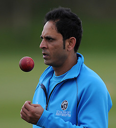 Somerset's Abdur Rehman - Photo mandatory by-line: Harry Trump/JMP - Mobile: 07966 386802 - 04/04/15 - SPORT - CRICKET - Pre Season - Day 3 - Somerset v Durham MCCU - Taunton Vale, Somerset, England.
