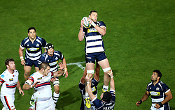 Bristol Rugby Lock Ian Evans catches the ball from a line out - Mandatory byline: Robbie Stephenson/JMP - 25/05/2016 - RUGBY UNION - Ashton Gate Stadium - Bristol, England - Bristol Rugby v Doncaster Knights - Greene King IPA Championship Play Off FINAL 2nd Leg.