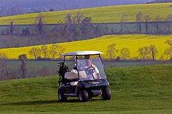 NORMANDY, FRANCE - MAY-01-2007 - David Sabbag of Australia, makes his way to the green of the 9th hole of the L'Etang course at the Omaha Beach Golf Club -  Course: L' Etang (The Lake) Hole 9 - 479 yards - Par 5 (Photo © Jock Fistick)