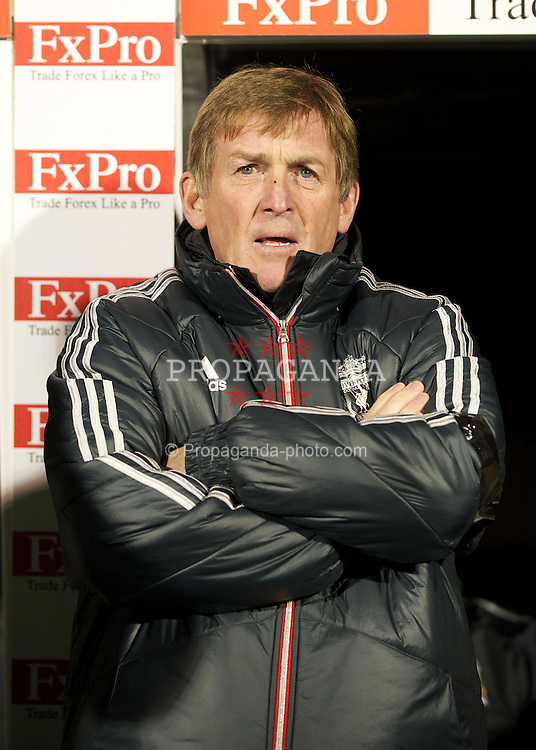 LONDON, ENGLAND - Monday, December 5, 2011: Liverpool's manager Kenny Dalglish before the Premiership match against Fulham at Craven Cottage. (Pic by David Rawcliffe/Propaganda)