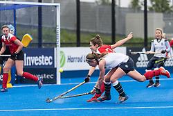 Surbiton's Rebecca Middleton. Holcombe v Surbiton - Investec Women's Hockey League Final, Lee Valley Hockey & Tennis Centre, London, UK on 29 April 2018. Photo: Simon Parker