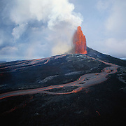 Lava fountain, Kilauea Volcano, Island of Hawaii