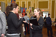 Ohio University student Sarah Chadwell meets with representative Jessica Shifley at the Career Fair held on February 18, 2014.