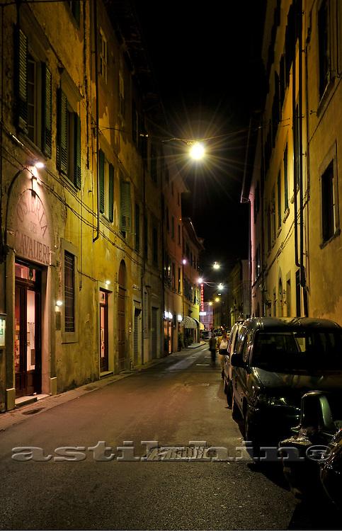 Street of Pisa at night
