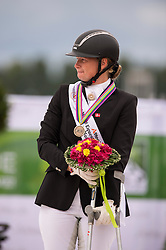 Susanne Jensby Sunesen and Thy's Que Faire bronze during the Individual Grade III test - Team Competition Grade III Para Dressage - Alltech FEI World Equestrian Games™ 2014 - Normandy, France.<br /> © Hippo Foto Team - Jon Stroud <br /> 25/06/14
