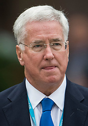 © Licensed to London News Pictures. 04/10/2017. Manchester, UK. Defence secretary MICHAEL FALLON at Conservative Party Conference. The four day event is expected to focus heavily on Brexit, with the British prime minister hoping to dampen rumours of a leadership challenge. Photo credit: Ben Cawthra/LNP