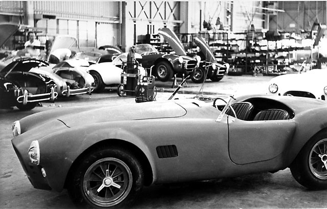 Cobra 427s being completed at Shelby American shop, Los Angeles, circa 1967
