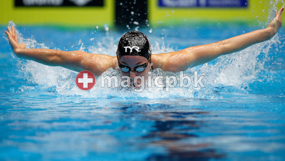 Danielle VILLARS of Switzerland competes in the women's 100m Butterfly Heats during the 17th European Short Course Swimming Championships held at the Jyske Bank BOXEN in Herning, Denmark, Saturday, Dec. 14, 2013. (Photo by Patrick B. Kraemer / MAGICPBK)