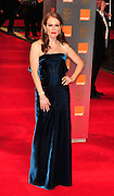 13.FEBRUARY.2011. LONDON<br /> <br /> JULIANNE MOORE AT THE ORANGE BRITISH ACADEMY FILM AWARDS AT THE ROYAL OPERA HOUSE IN CENTRAL LONDON<br /> <br /> BYLINE: EDBIMAGEARCHIVE.COM<br /> <br /> *THIS IMAGE IS STRICTLY FOR UK NEWSPAPERS AND MAGAZINES ONLY*<br /> *FOR WORLD WIDE SALES AND WEB USE PLEASE CONTACT EDBIMAGEARCHIVE - 0208 954 5968*