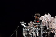"Ahmir ""Questlove"" Thompson at his drum kit. Shuffle Culture, BAM, April 2012."