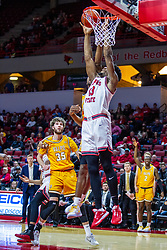 NORMAL, IL - February 15: Rey Idowu grabs a defensive rebound during a college basketball game between the ISU Redbirds and the Valparaiso Crusaders on February 15 2020 at Redbird Arena in Normal, IL. (Photo by Alan Look)