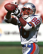 New England Patriot widereceiver Terry Glenn during game action against the Kansas City Chiefs at Arrowhead Stadium in Kansas City, Missouri on October 10, 1999.