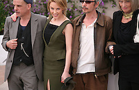 Edith Scob, Denis Lavant, Kylie Minogue, Leos Carax at the Holy Motors photocall at the 65th Cannes Film Festival France. Wednesday 23rd May 2012 in Cannes Film Festival, France.