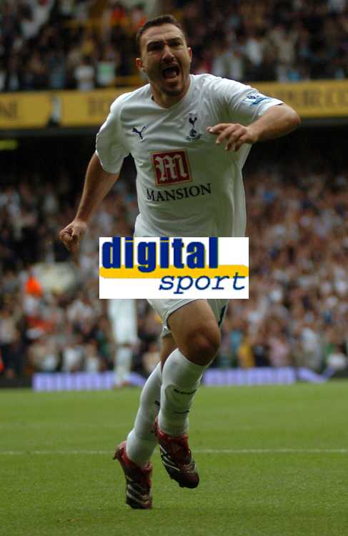 Photo: Tony Oudot.<br /> Tottenham Hotspur v Derby County. The FA Barclays Premiership. 18/08/2007.<br /> two goalscorer Steed Malbranque celebrates his second goal