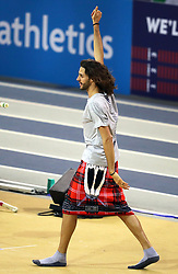 Italy's Gianmarco Tamberi ahead of the Men's High Jump Final during day two of the European Indoor Athletics Championships at the Emirates Arena, Glasgow.