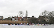 Putney, GREAT BRITAIN,  Both crews racing along along Chiswich Eyot, during the  2010  Varsity/Oxford University  vs Leander Club, raced over the championship course. Putney to Mortlake, Sat. 20.03.2010. [Mandatory Credit, Peter Spurrier/Intersport-images]