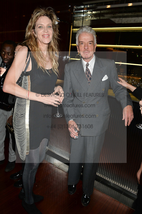 MARTHA FIENNES and NICKY HASLAM at a dinner hosted by Liberatum to honour Francis Ford Coppola held at the Bulgari Hotel & Residences, 171 Knightsbridge, London on 17th November 2014.