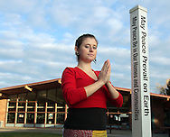 KENMORE, WA - OCTOBER 20: Morgan McRae on the grounds of Kenmore Junior High on October 20, 2005 in Kenmore WA. McRae is a Yoga instructor with Dahn Yoga & Tai Chi Center of Tacoma, WA and has taught classes at Kenmore for school kids. (Photo by John Froschauer/Getty Images for the Body & Brain Magazine)