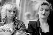 Helena and Anne, Two women in 80's styles, 1987