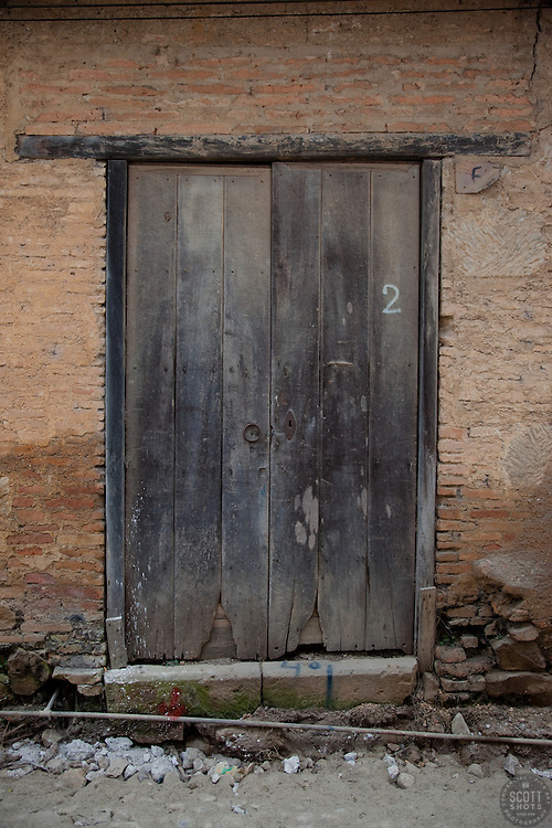 """Door 2"" - This old wooden door was photographed in the small mountain town of San Sebastian, Mexico."