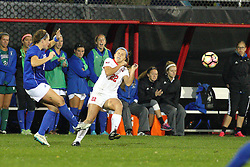 04 November 2016: Abby Basler(22)  during an NCAA Missouri Valley Conference (MVC) Championship series women's semi-final soccer game between the Indiana State Sycamores and the Illinois State Redbirds on Adelaide Street Field in Normal IL