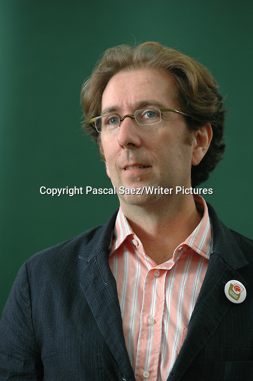 American writer  D T Max, author of &quot; The Family That Couldn't Sleep&quot;, at the Edinburgh International Book Festival 2007. <br /> <br /> Copyright Pascal Saez/Writer Pictures<br /> <br /> contact +44 (0)20 8241 0039<br /> sales@writerpictures.com<br /> www.writerpictures.com