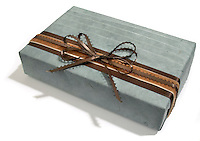 hand wrapped gift box