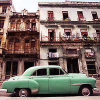 An old American car is seen in Havana, Cuba.