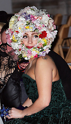 Lady Gaga  before the start of the Philip Treacy show at  London Fashion Week for Spring/Summer 2013, Saturday, 15th September 2012 Photo by: Stephen Lock / i-Images