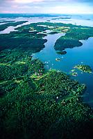 Aerial view of the Stockholm Archipelago, Sweden