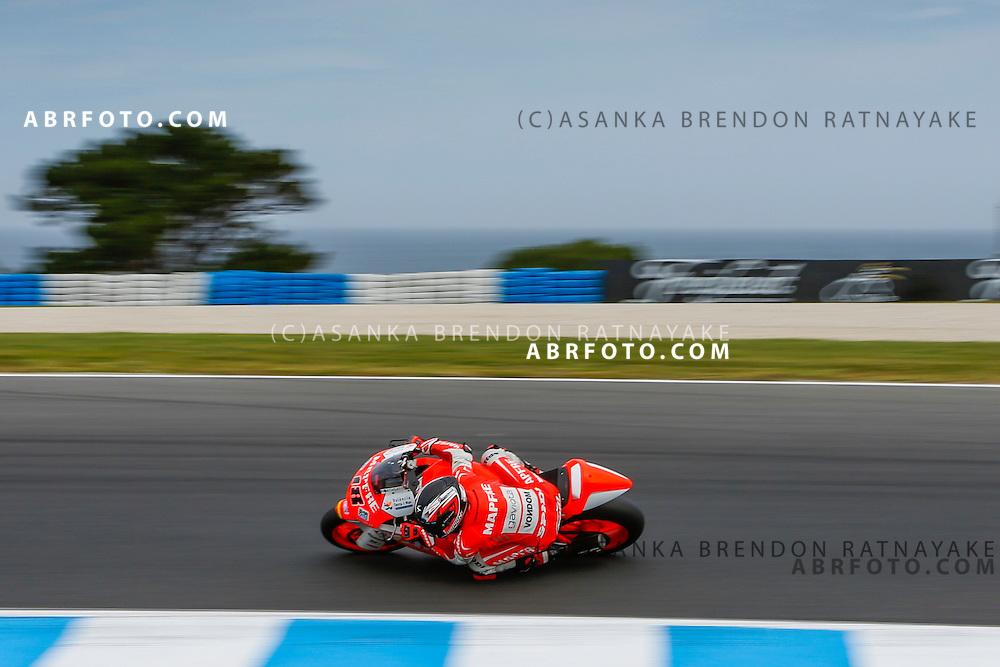 Nico Terolduring the moto2 race at Phillip Island Grand Prix Circuit at Phillip Island Victoria Australia on the 19th October 2014. Photo Asanka Brendon Ratnayake