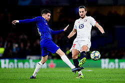 Mateo Kovacic of Chelsea challenges Yusuf Yazici of Lille - Mandatory by-line: Ryan Hiscott/JMP - 10/12/2019 - FOOTBALL - Stamford Bridge - London, England - Chelsea v Lille - UEFA Champions League group stage