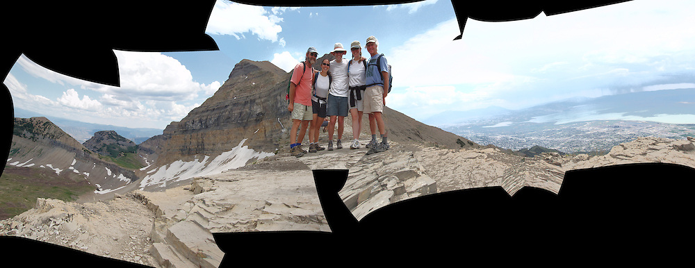 group hike up Mt. Timpanogos