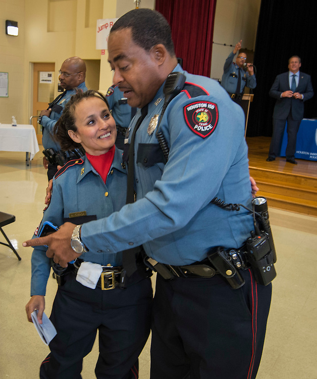 Houston ISD Police awards banquet at Thompson Elementary School, August 15, 2014.