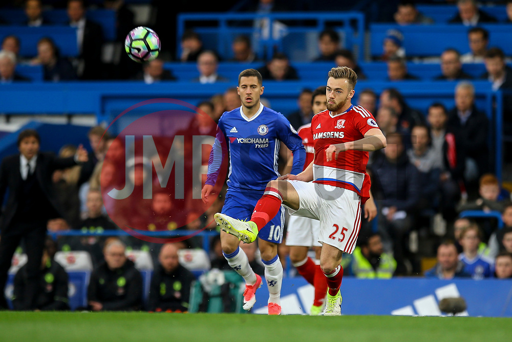Calum Chambers of Middlesbrough in action - Mandatory by-line: Jason Brown/JMP - 08/05/17 - FOOTBALL - Stamford Bridge - London, England - Chelsea v Middlesbrough - Premier League