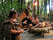 Tattoo demonstration at Tamaki Maori Village, Rotorua, North Island, New Zealand
