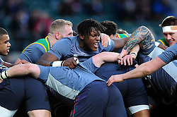 Maro Itoje of England in action during the pre-match warm-up - Mandatory byline: Patrick Khachfe/JMP - 07966 386802 - 04/02/2017 - RUGBY UNION - Twickenham Stadium - London, England - England v France - RBS Six Nations Championship 2017.