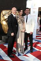 LONDON - MAY 27: Jake Wood, Jacqueline Jossa; Scott Maslen attends the Arqiva British Academy Television Awards at the Royal Festival Hall, London, UK. May 27, 2012. (Photo by Richard Goldschmidt)