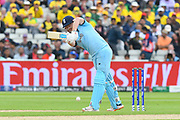 Wicket - Jonny Bairstow of England is trapped lbw by Mitchell Starc of Australia during the ICC Cricket World Cup 2019 semi final match between Australia and England at Edgbaston, Birmingham, United Kingdom on 11 July 2019.