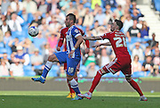Brighton striker, Tomer Hemed holds the ball up during the Sky Bet Championship match between Brighton and Hove Albion and Cardiff City at the American Express Community Stadium, Brighton and Hove, England on 3 October 2015.