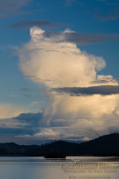 Thunderstorm cloud over Whiskeytown Lake, Whiskeytown National Recreation Area, Shasta - Trinity National Forest, Shasta County, California