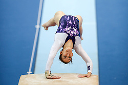 Tjasa Kysselef of Slovenia at Vault during Qualifications of Artistic Gymnastics FIG World Challenge Koper 2018, on May 31, 2017 in Arena Bonifika, Koper, Slovenia. Photo by Matic Klansek Velej/ Sportida