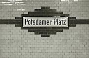Berlin, GERMANY,  General views, GV's Potsdamer Platz, SBahn  Station,  Berlin, Friday, 19/12/2008.  {Mandatory Credit/Peter Spurrier] Street Photos