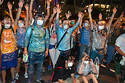protesters in Admiralty raising their hands in the air to show they would not attack<br /> <br /> <br /> The streets of Hong Kong on Sunday night resemble a battleground, with police in full riot gear and gas masks firing tear gas on students wearing makeshift masks and wielding umbrellas, in the worst clashes between police and demonstrators since the 2005 WTO protests<br /> <br /> The protest&rsquo;s main organiser, Occupy Central with Peace and Love, has called for a new era of civil disobedience to protest against the government&rsquo;s plans to tightly limit electoral changes, despite long-held promises that the city&rsquo;s residents would be allowed to choose their own leader by 2017.<br /> <br /> The demonstration was originally planned to begin later this week, but Occupy Central brought the protest&rsquo;s starting date forward after a group of students, galvanised by a week of peaceful protest, invaded the city&rsquo;s main government compound on Friday night.