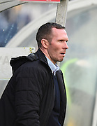 Oxford manager Michael Appleton during the Sky Bet League 2 match between Wycombe Wanderers and Oxford United at Adams Park, High Wycombe, England on 19 December 2015. Photo by David Charbit.